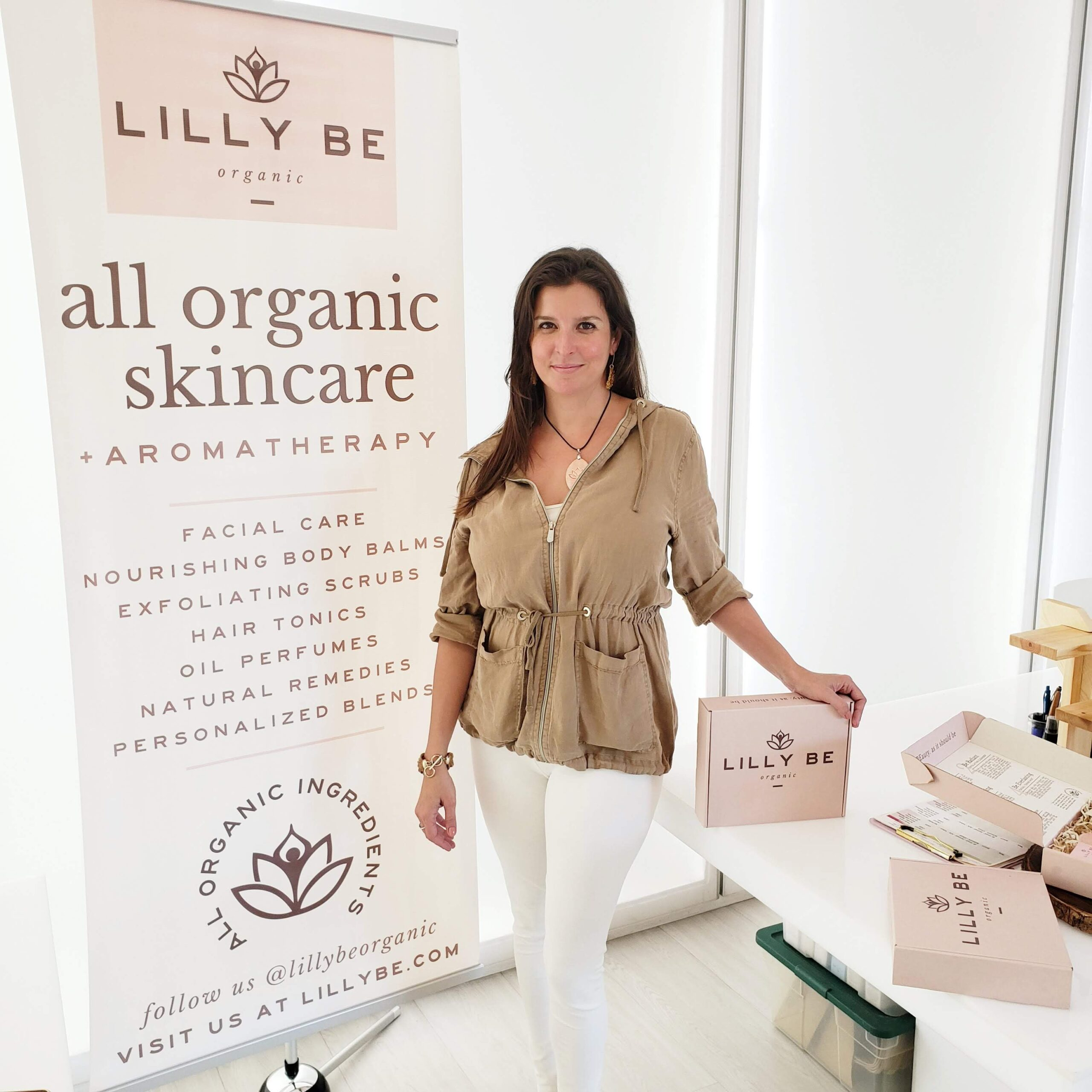 Founder Lissette Monzon headshot in natural organic setting